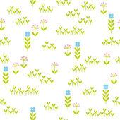 Seamless floral pattern — 图库矢量图片