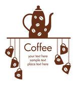 Icono de café — Vector de stock