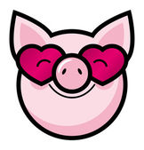 Funny pig — Stock Vector