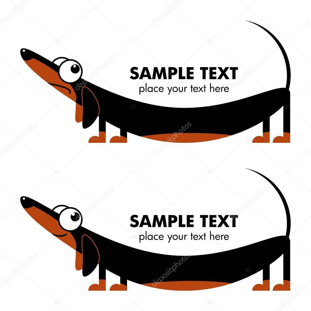 Perro salchicha de dibujos animados — vector stock