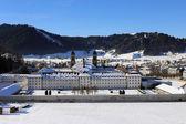 Front view of Abbey of Einsiedeln, Switzerland — Stock Photo