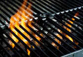 Grill flames — Stock Photo