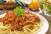 Spaghetti and meat sauce — Stock Photo