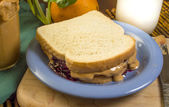 Peanut butter and jelly — Stock Photo