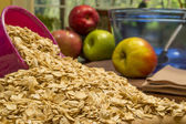 Oats and apples — Stock Photo