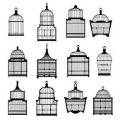 Set birdcages collection — Stock Vector
