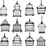 se de cages à oiseaux vintage — Vecteur #49117315
