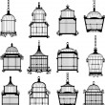 vintage birdcages se — Stok Vektör #49117315