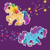 Beauty pony's — Stock Vector