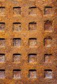 Old rusty sewer manhole texture — Stock Photo