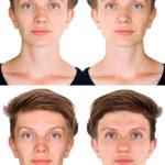 Symmetrical woman face — Stock Photo #49615725