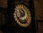 Astronomical Clock at night, Prague — Stock Photo