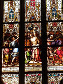 Stained glass in the Basilica of Saints Peter and Paul — Foto de Stock