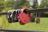 Locks in the form of heart — Stock Photo