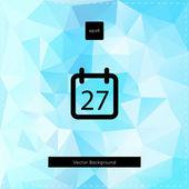 Abstract vector light blue polygonal background. — Stock Vector