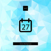 Abstract vector light blue polygonal background. — Stock Vector