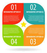 Infographic options banner. — Stock Vector