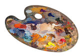 Heavy used palette — Stock Photo