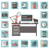 "Icons set ""Desktop"" — Stock Vector"