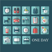 """Icons set """"One day"""" — Stock Vector"""