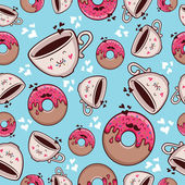 "Pattern ""Donut and coffee"" — Stock Vector"