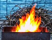 Fire in brazier — Stock Photo