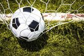 Futbol topu gol — Stok fotoğraf