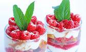 Raspberry trifle — Stock Photo