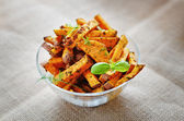 Baked sweet potato — Stock Photo
