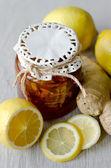 Ginger lemon jam — Stock Photo