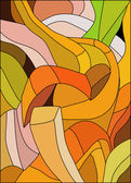 Abstract stained glass in warm colors — Stock Vector