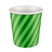 Green Disposable Paper Cup. Container For Coffee, Java, Tea — Stock Vector