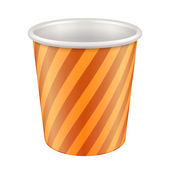 Orange Yellow White Disposable Paper Cup. Container For Coffee, Java — Stock vektor