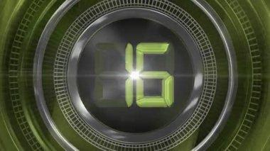 Green twenty-seconds Countdown — Stock Video