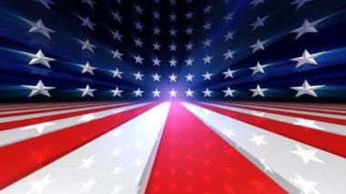US Flag Animation — Stock Video