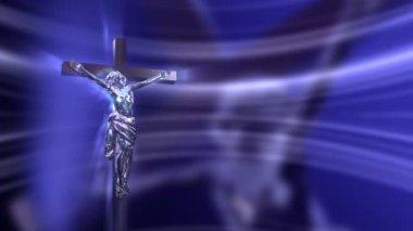 Crucifijo con jesús — Vídeo de Stock