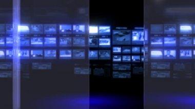 Virtual studio background — Stock Video