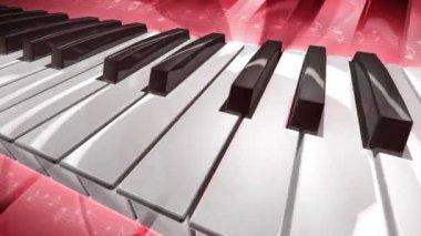 Vliegende piano — Stockvideo
