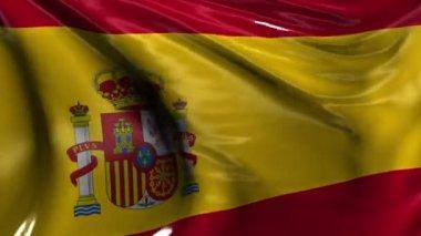 National Flag of Spain — Stock Video