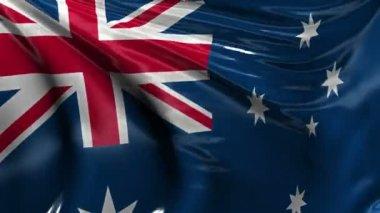 National flag of Australia — Stock Video