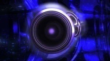 Loudspeakers vibrating — Stock Video