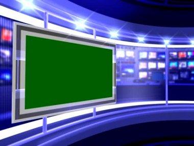 Virtual news studio — Stock Video