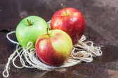 Three Ripe Apple — Stock Photo