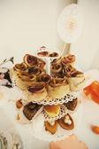 Cake with cinnamon — Stock Photo