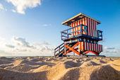 Badmeester toren in south beach, miami beach, florida — Stockfoto
