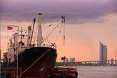 Container ship  Thailan — Stockfoto