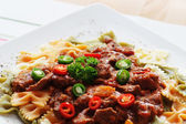 Goulash pasta en chili — Stockfoto