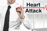 Doctor heartbeat line heart attack — Stock Photo