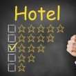 Hotel thumbs up rating three stars — Stock Photo #50948307