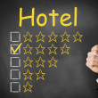 Thumbs up Hotel four star rating — Stock Photo #51124371